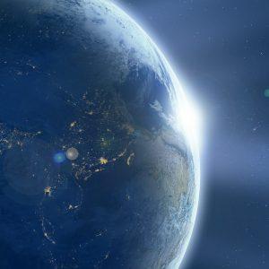 地球と光り