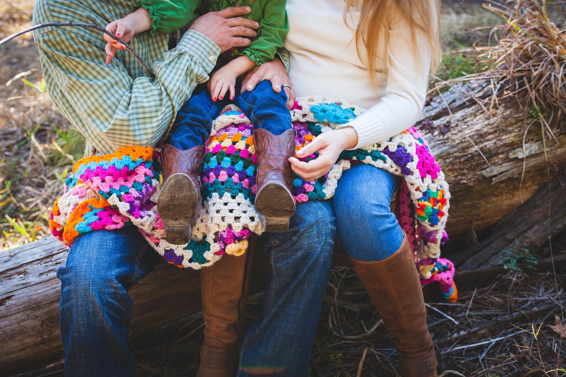 円満な家族の写真