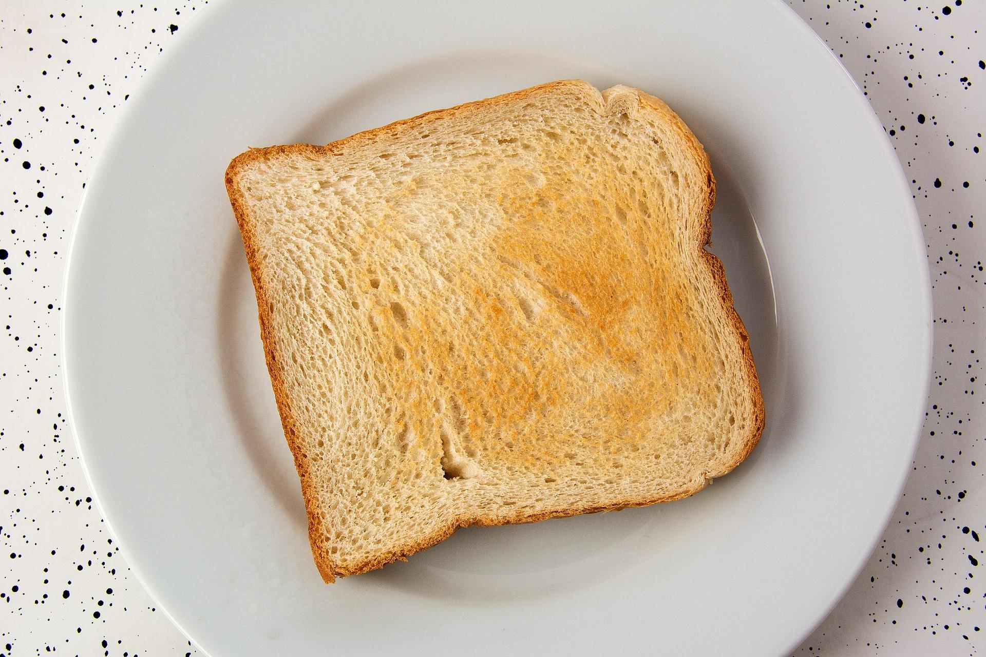 トースト1枚の画像