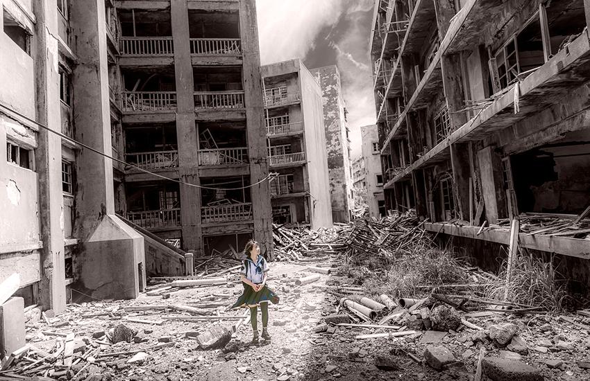 荒廃した世界と肉体を失った少女