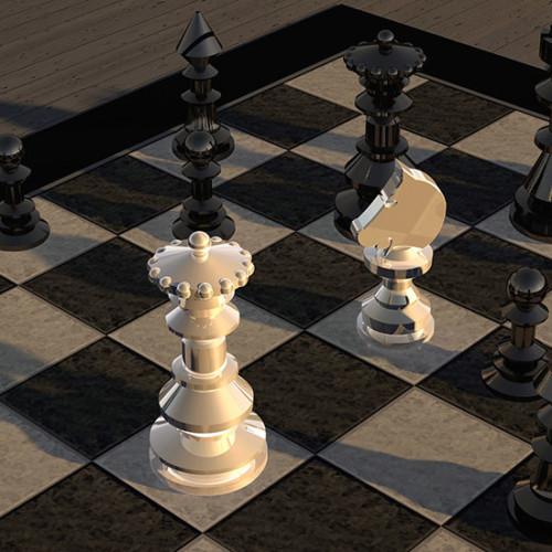 チェス盤 白と黒
